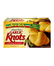New York Brand® Bakery Hand Tied Garlic Knots with Real Garli...