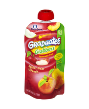 Gerber Graduates Grabbers Apple Pear Peach Squeezable Fruit P...