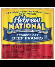 Hebrew National Beef Reduced Fat Franks 11 Oz Pack