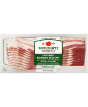 Applegate Naturals® Uncured Sunday Bacon® 8 oz. Package