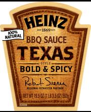 Heinz Texas Style BBQ Sauce 19.5 oz. Bottle