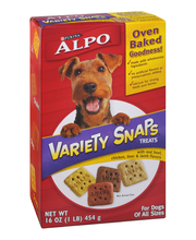 Purina ALPO Variety Snaps Little Bites Dog Treats With Beef Chicken Liver & Lamb Flavors Dog Treats - 16 oz. Box