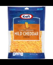 Kraft Finely Shredded Mild Cheddar Cheese 8 oz. ZIP-PAK®