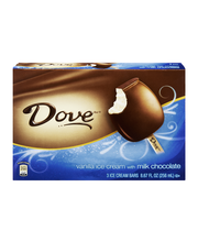 Dove Milk Chocolate Vanilla Ice Cream Bars - 3 CT