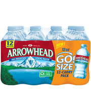 Arrowhead Go! Size 100% Mountain Spring Water 12-12 fl. oz. B...