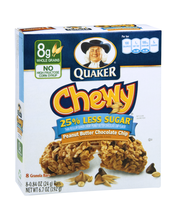 Quaker® Chewy 25% Less Sugar* Peanut Butter Chocolate Chip Gr...