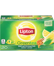 Lipton™ Decaffeinated Honey Lemon Green Tea Bags 20 ct Box