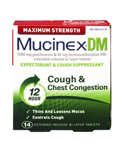 Mucinex® DM Maximum Strength Extended-Release Bi-Layer Tablet...