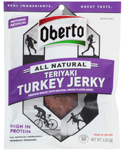 Oberto® All Natural* Teriyaki Turkey Jerky 3.25 oz. Pouch