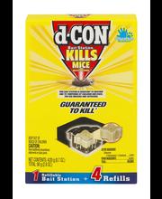D-Con® Refillable Bait Station Mouse Trap Kit 4 ct Box
