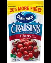 Ocean Spray® Craisins® Cherry Dried Cranberries 6 oz. Pouch