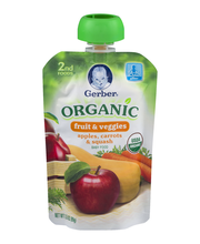 Gerber Organic 2nd Foods Baby Food, Apples, Carrots & Squash,...
