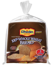 Rhodes Bake-N-Serv® 100% Whole Wheat Bread Dough 3 ct Bag