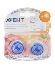 Avent Orthodontic Pacifiers Classic (6-18m) - 2 CT