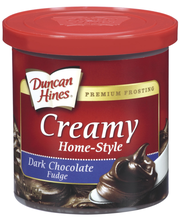 Duncan Hines Dark Chocolate Fudge Creamy Home-Style Frosting ...