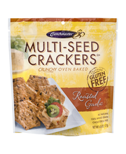 Crunchmaster™ Roasted Garlic Multi-Seed Crackers 4.5 oz. Pouch