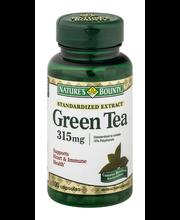 Nature's Bounty Herbal Capsules Green Tea Standardized Extrac...