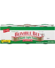 Bumble Bee® Chunk Light Tuna in Vegetable Oil 3-3 oz. Pack Sl...