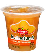 Del Monte® Fruit Naturals® Yellow Cling Peach Chunks in Extra...