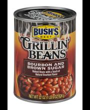 Bush's Best® Grillin' Beans® Bourbon and Brown Sugar 22 oz. Can