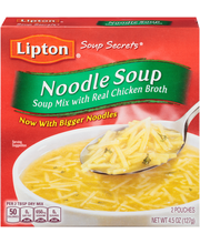 Lipton® Soup Secrets® Noodle Soup Mix with Real Chicken Broth...