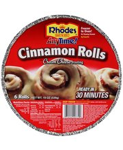 Rhodes® Anytime!™ Cinnamon Rolls with Cream Cheese Frosting 6...