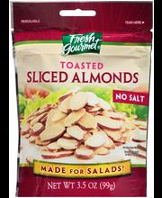 Fresh Gourmet® No Salt Toasted Sliced Almonds 3.5 oz. Pouch
