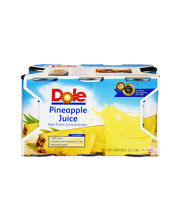 Dole® 100% Pineapple Juice 6-6 fl. oz. Cans