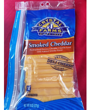 SMOKED CHEDDAR CHEESE SLICES 8oz