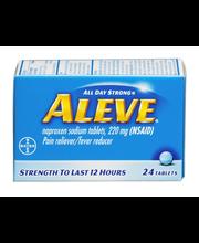 Aleve® Naproxen Sodium 220mg Tablets 24 ct Box