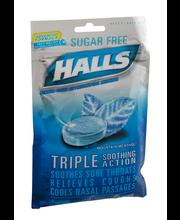 Halls Sugar Free Mountain Menthol Cough Suppressant/Oral Anes...