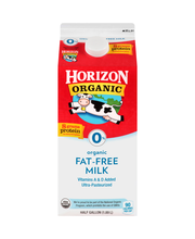 Horizon Organic® 0% Fat Free Milk .5 Gal Carton