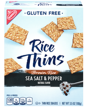 Nabisco Gluten Free Rice Thins Sea Salt & Pepper Thin Rice Sn...