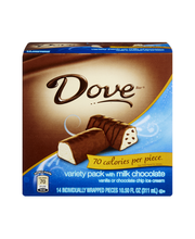 DOVE Minis Ice Cream Bars Variety Mix, Vanilla and Chocolate ...