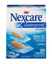 3M Nexcare Waterproof Bandages Assorted - 20 CT