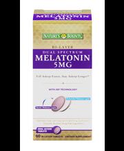 Nature's Bounty Melatonin 5mg Bi-Layer Tablets - 60 CT