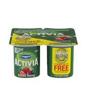 Dannon® Activia® Probiotic Blended Lowfat Yogurt Mixed Berry ...