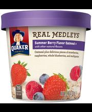 Quaker® Real Medleys® Summer Berry Oatmeal 2.46 oz. Cup