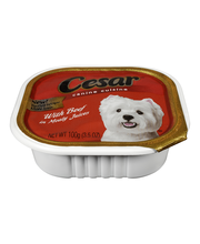Cesar® Canine Cuisine with Beef in Meaty Juices 3.5 oz. Tray
