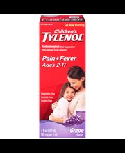 Children's Tylenol® Pain + Fever Age 2–11 Grape Flavor Liquid...