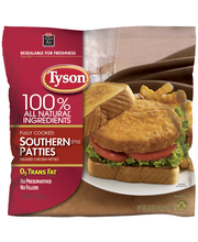 Tyson® Fully Cooked & Breaded Southern Style Chicken Patties ...