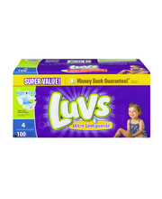 Luvs® Ultra Leakguards™ Size 4 Diapers 100 ct Box