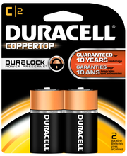 Duracell CopperTop C Alkaline Batteries 2 ct Blister