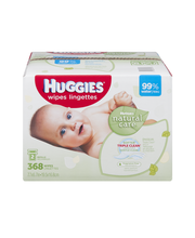 Huggies Natural Care Wipes Refills Fragrance Free - 368 CT