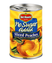 Del Monte® No Sugar Added Sliced Yellow Cling Peaches 14.5 oz...