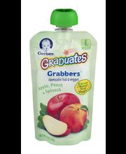 Gerber Graduates Grabbers Fruit & Veg Apple Peach Spinach Squ...