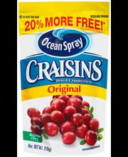 Ocean Spray® Craisins® Original Dried Cranberries 6 oz. Pouch