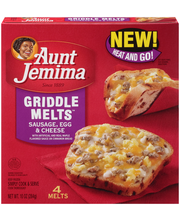 Aunt Jemima® Sausage, Egg & Cheese Griddle Melts™ 10 oz. Box