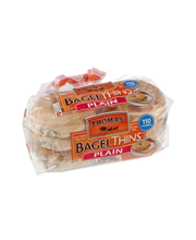 Thomas' Bagel Thins Plain Bagels - 13 OZ