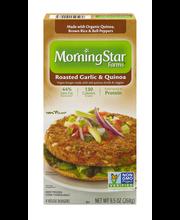MorningStar Farms® Roasted Garlic & Quinoa Veggie Burgers 4 c...